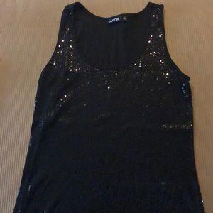 Black sequin tank top